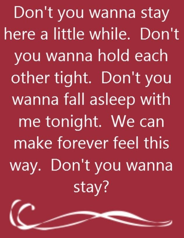 Jason Aldean feat Kelly Clarkson - Don't You Wanna Stay - song lyrics, song quotes, songs, music lyrics, music quotes,