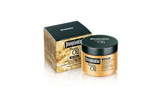 Prestige Oil – Maschera: Formula rivitalizzante ed illuminante con Oro microattivo e Olio di Argan