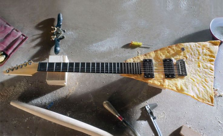 Perhaps worlds first edible pita bread guitar .. it will feed you in between gigs ;)