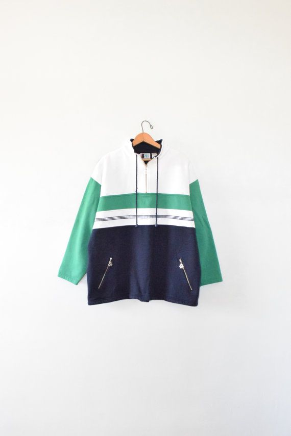 NAUTICAL COLORBLOCK PULLOVER  size women's large by GUTTERSHOPWEST