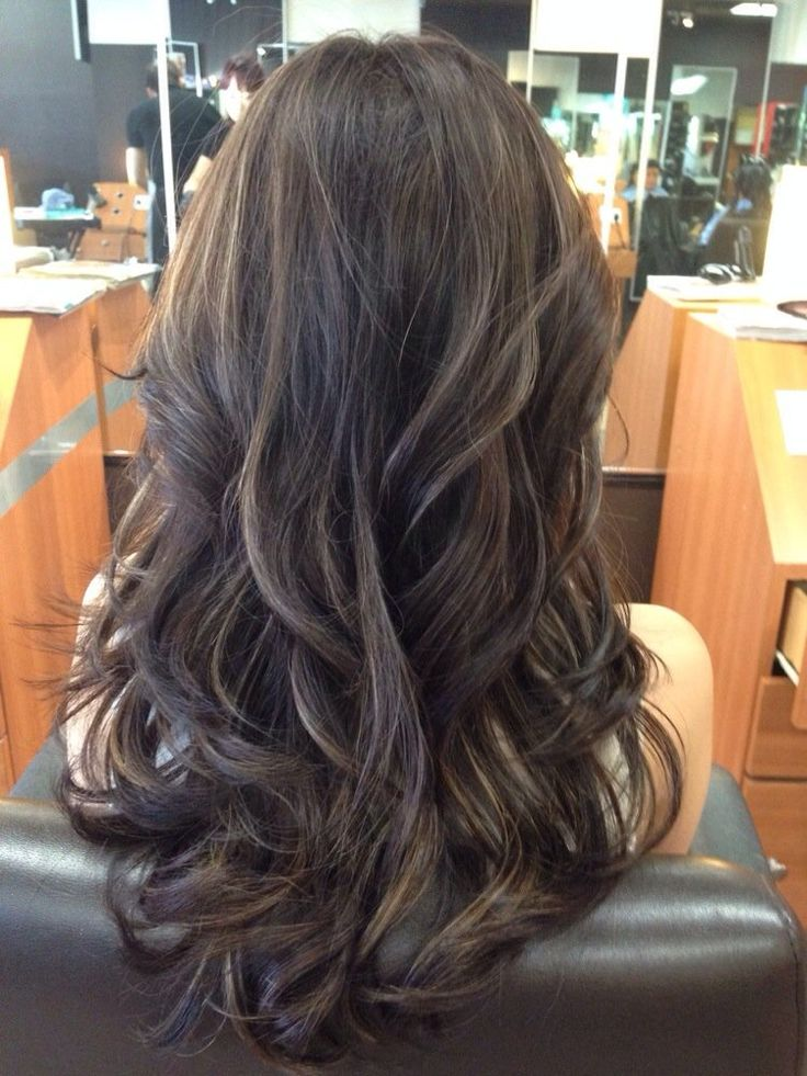 Ash Brown And Violet Highlights Hair Color Asian Brown