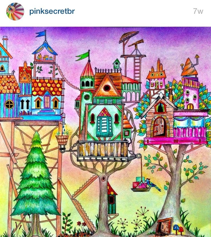 136 Best Images About Enchanted Forest Coloring On Pinterest