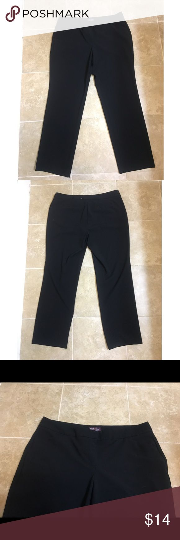 The Smart Fit dress pants Great comfy pair of black dress pants! Zippers up and has clasps. 😊 Roz & Ali Pants