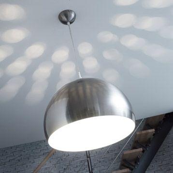 Suspension Megara INSPIRE, nickel mat, 60 watts, Diam. 38 cm | Leroy Merlin