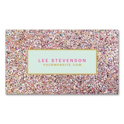 22 best pretty business cards for girls images on pinterest fun colorful glitter business card perfect for a beauty salon a boutique reheart Images