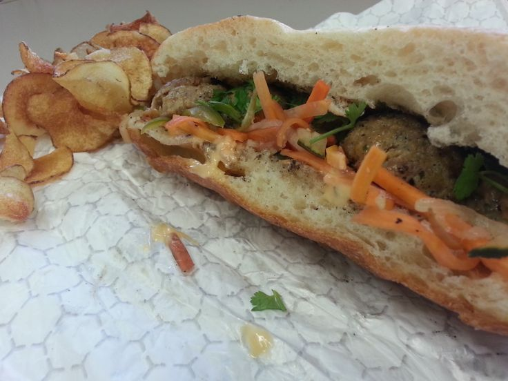 Brandon sent in the Banh Mi all the way from  Pigwich in Kansas City MO.  Deliciousness ensued.