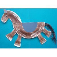 paper plate horse craft