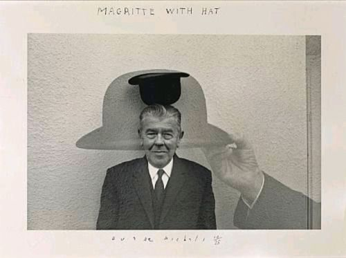 Magritte with Hat - Duane Michals