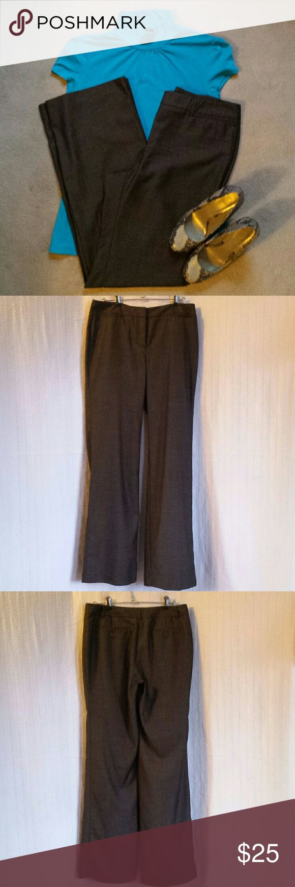 New York & Company Brown Slacks New York & Company Brown Slacks. Zipper with 2 bar and loop close.  One hidden inside button.   TALL slacks.  34 inch inseam.  92% polyester & 8% rayon  No rips, stains, or imperfections. Smoke free house. Reasonable offers are accepted and I discount bundles. New York & Company Pants