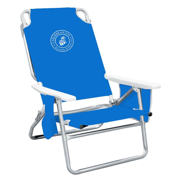 Outdoor Caribbean Joe Solid 5-Position Folding Low Beach Chair - CJ-7750BL