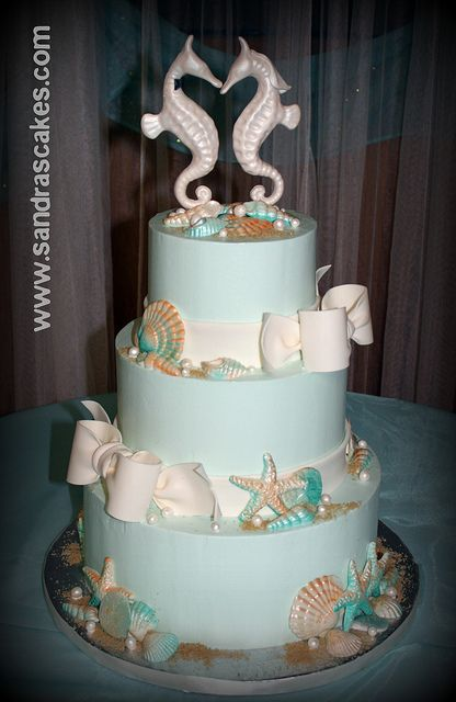 Seahorse wedding by sandrascakes  via Flickr