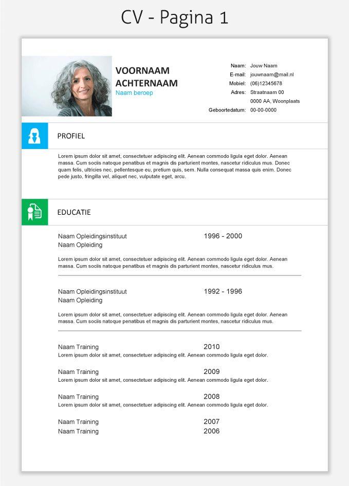 CV template 266 om te downloaden