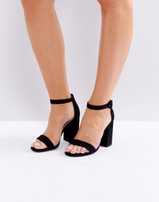 888291cb75 New Look barely there block heeled sandal | fit | Fashion heels ...