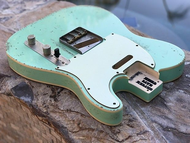 Real Life Relics Tele Telecaster Body Double Bound Aged Surf | Reverb