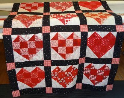 Assembling A Heart Block Quilt Valentines Day