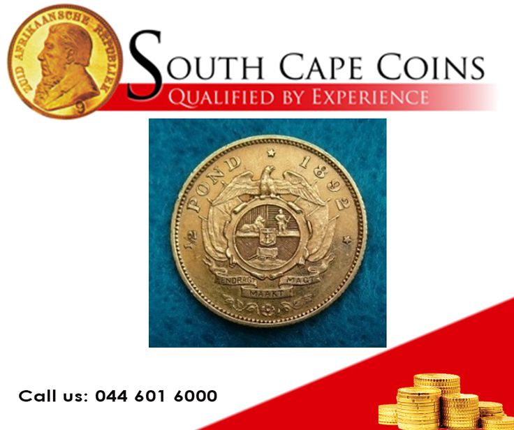 1892 Kruger Half Pond. Call us for more info: 044 601 6000 or Visit our website: besociable.link/yU #coins, #investment, #rarecoins