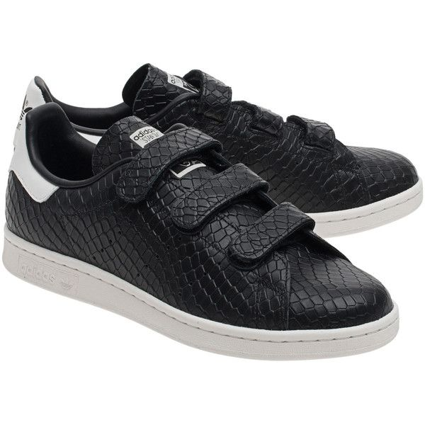 ADIDAS ORIGINALS Stan Smith Core Black // Sneakers of structured... (\u20ac