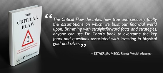 """Thank you Esther Jin for providing an endorsement for """"The Critical Flaw: How to profit and protect wealth in history's greatest opportunity"""". Your effort is much appreciated.  Read our latest endorsements and reviews on www.thecriticalflaw.com! Enjoy!"""