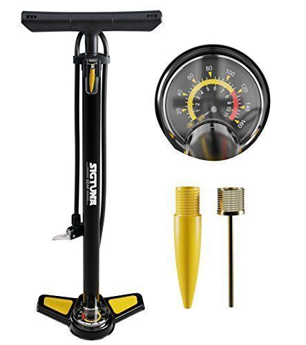 "Product review for SIGTUNA Bike Pump - High Performance 160 PSI Bicycle Pump with Gauge and Schrader & Presta Valve + 6-Piece Glueless Repair Kit - ◄ ALWAYS THE EXACT RIGHT TIRE PRESSURE. OUR RECIPE FOR AWESOME RIDES ► What Our Customers Say: ""Strong metal tube and solid foot, awesome Presta valve pump"", ""High-end and all-round solid Presta bike pump!"", ""One of the best bike pumps for road bikes!"".  ★★★★★ &#8211... #bikerepairkit"