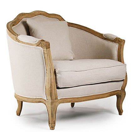 "Luxurious style meets deluxe comfort, the elegant Chateau Chair will be your sanctuary. Relax against the soft linen and generously stuffed upholstery. - 40""w x 35.5""h x 28""d - Natural Linen - Natural"