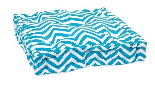 Blue Chevron FLoor Cushion