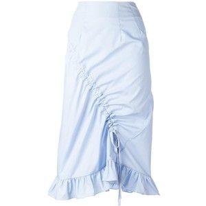 Preen By Thornton Bregazzi gathered detail straight skirt