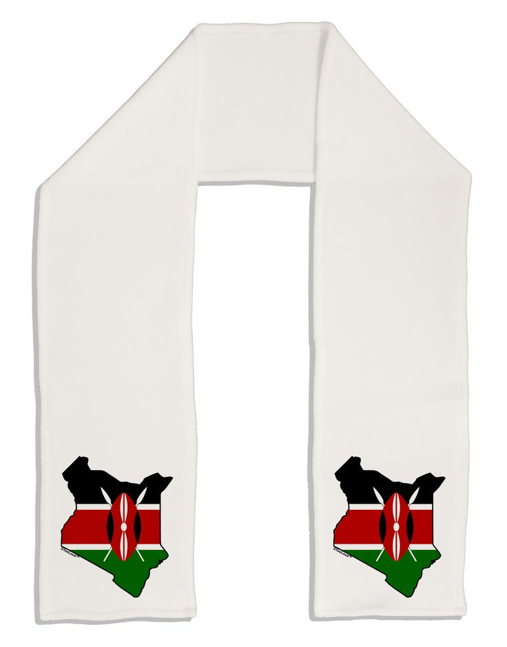 "TooLoud Kenya Flag Silhouette Adult Fleece 64"" Scarf"