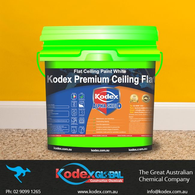 Save your time and get fast results with a single coat of Kodex Premium Ceiling Flat on your ceilings. It has antimicrobial quality that help prevent the growth of mould, mildew, bacteria and fungus. To know more click: http://www.kodex.com.au/wp-content/uploads/2015/02/Kodex-premium-ceiling-FlatD.pdf #Kodex #KodexPaints #Paints #Interiorpaints #Interior