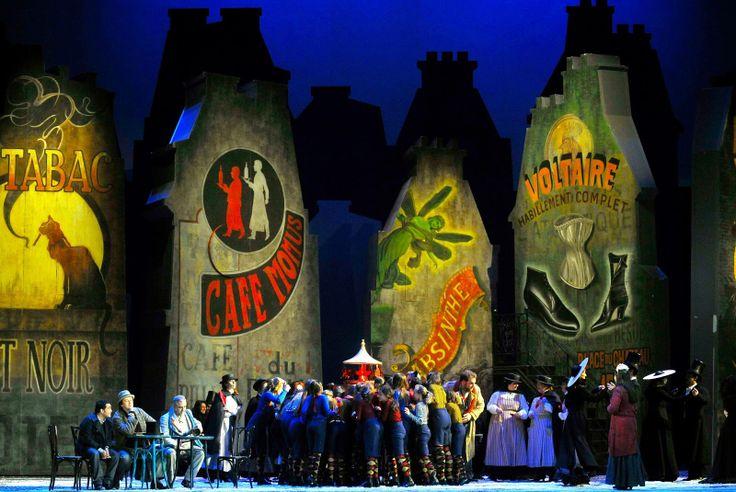 Teatro La Fenice's production of Puccini's La Boheme Act 2. Directed by Francesco Micheli. Sets by Edoardo Sanchi. Follow me @operandesign
