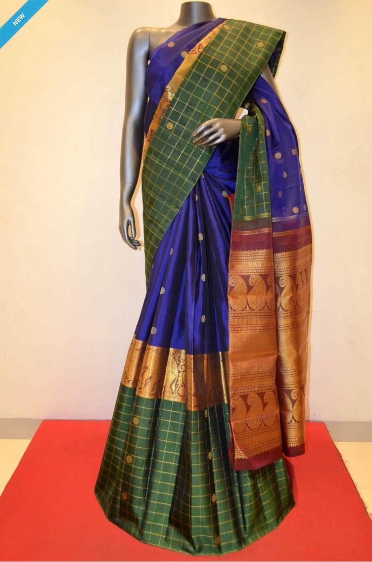 Exquisite Traditional Kanjeevaram Silk Saree - Traditional Zari Butta