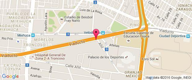 Map for Palacio De Los Deportes