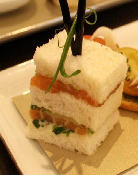 Mini afternoon tea sandwich size idea