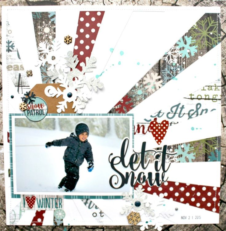 Let+It+Snow - Snow Patrol Simple Set - Scrapbook.com