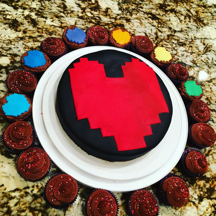 Undertale Cake You we filled with determination....