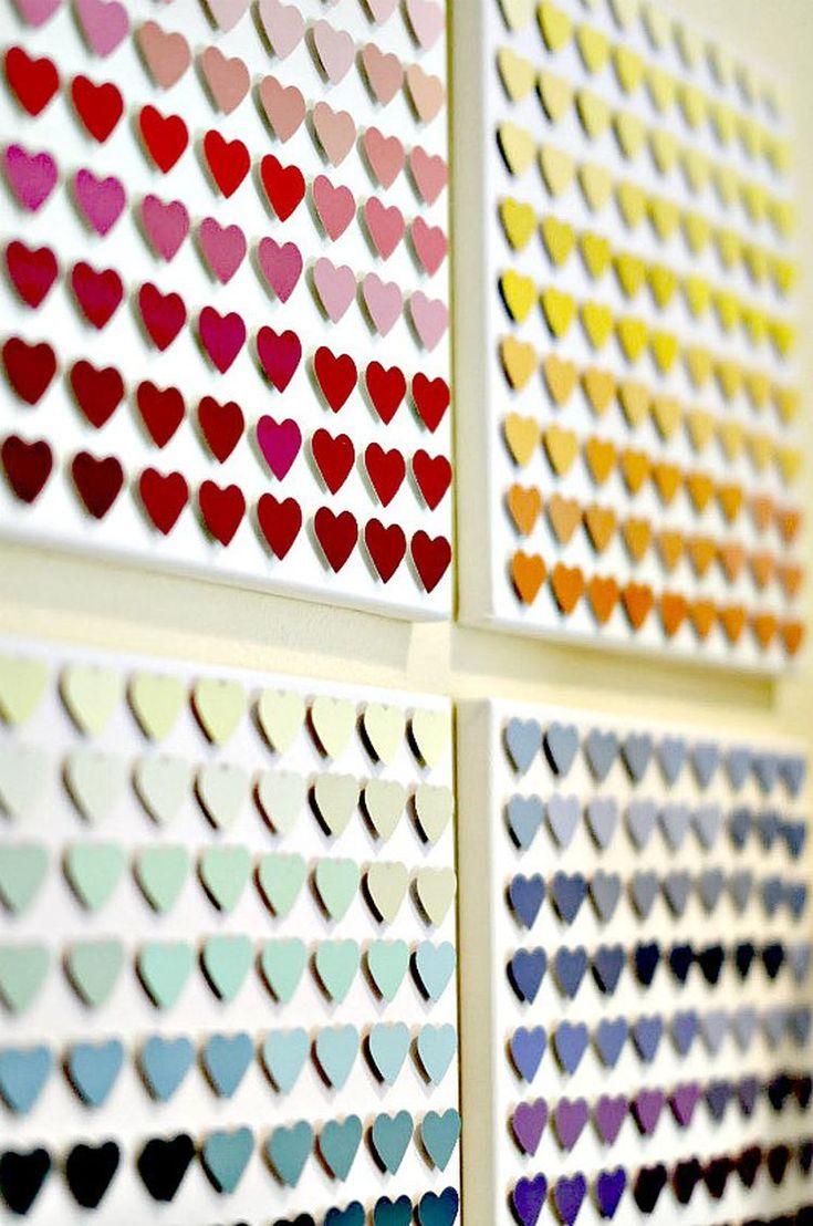 Süßes Herz Bild aus Farbkarten