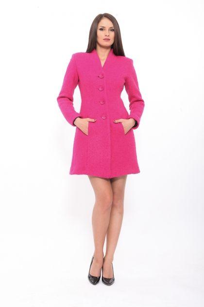 Palton din lana drept