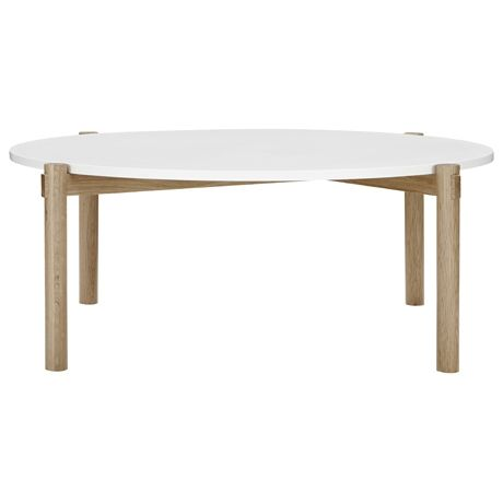 Holt Round Coffee Table with white top $299 from Freedom Furniture at Crossroads Homemaker Centre