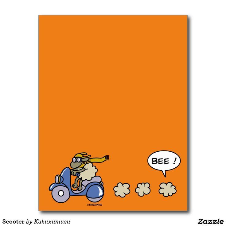 Scooter #tarjeta #postal #postcard