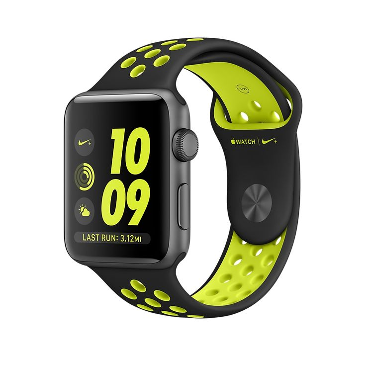 Introducing Apple Watch Nike+ Series 2 Space Gray Aluminum in 38mm or 42mm with…
