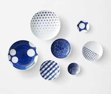 Patterned porcelain ceramics by Nendo #tableware #ceramics