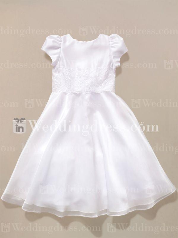 Cute+Flower+Girl+Dress+with+Lace+Trim+Fl048