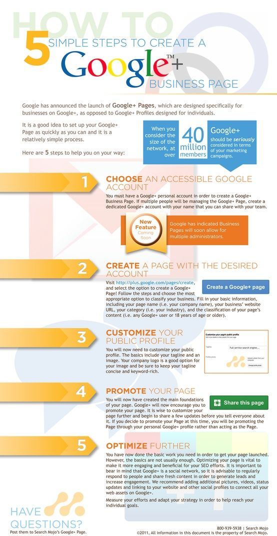 5 Simple Steps to creat a #Google plus #Business page
