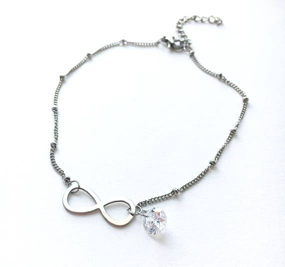 Infinity Anklet Stainless Steel Anklet Best Friend Gift