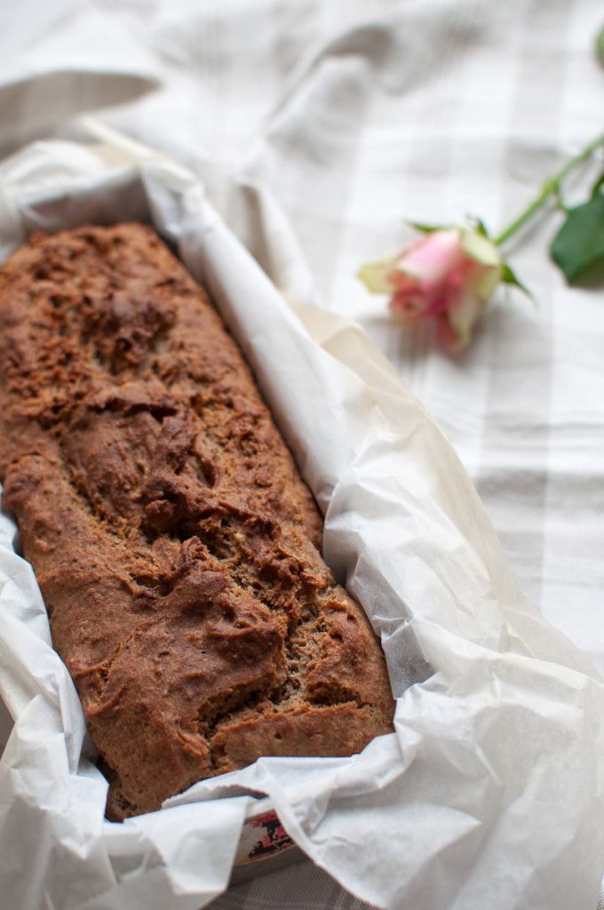 Buckwheat banana bread. Gluten free, sugar free and vegan.