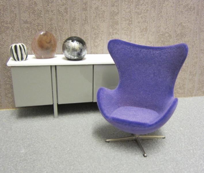 1:16 Egg Chair, Purple · Modern DollhouseDollhouse ...