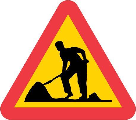 A20-1 Varning för vägarbete
