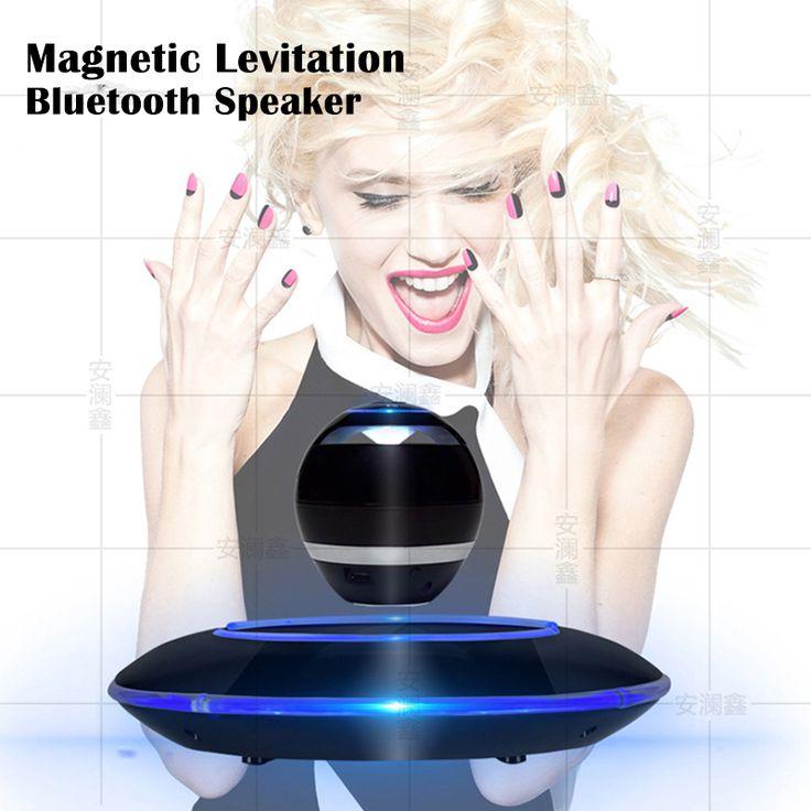 Portable Wireless Maglev Bluetooth Speaker Wireless Floating Rotating Loud Speaker Magnetic Levitation Speaker TF card support