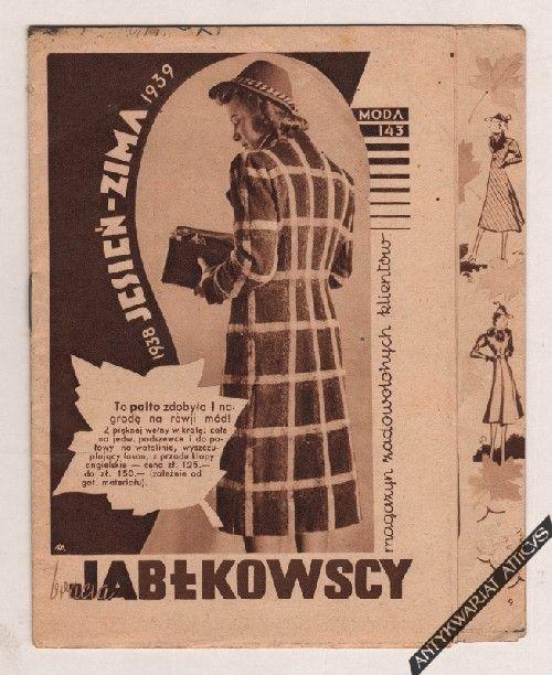 [folder reklamowy] Bracia Jabłkowscy. Magazyn zadowolonych klientów. 1938 jesień - zima 1939; Moda 143