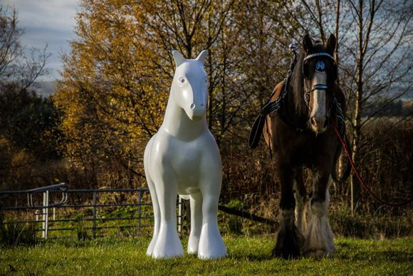 """25 Clydesdale horse statues will be displayed around the Hamilton area for 10 weeks this summer starting June 25 in the Ready, Steady, Gallop! art trail. Why Clydesdale horses? Planners were motivated by the town's proximity to the Clydesdale valley in Scotland and wanted to 'celebrate the role of these mighty animals in the livelihood of the people who worked the land in Lanarkshire"""""""