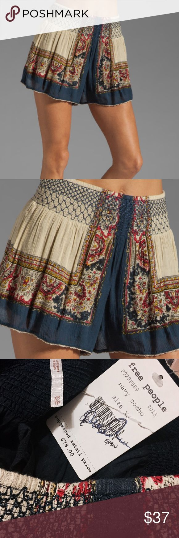 NWT! Free People scarf printed short Free People shorts have a beautiful and detailed design. Purchased from ABC studios and was originally meant to be used on the set of Girl Meets World. Never used, brand new with tags! Free People Shorts
